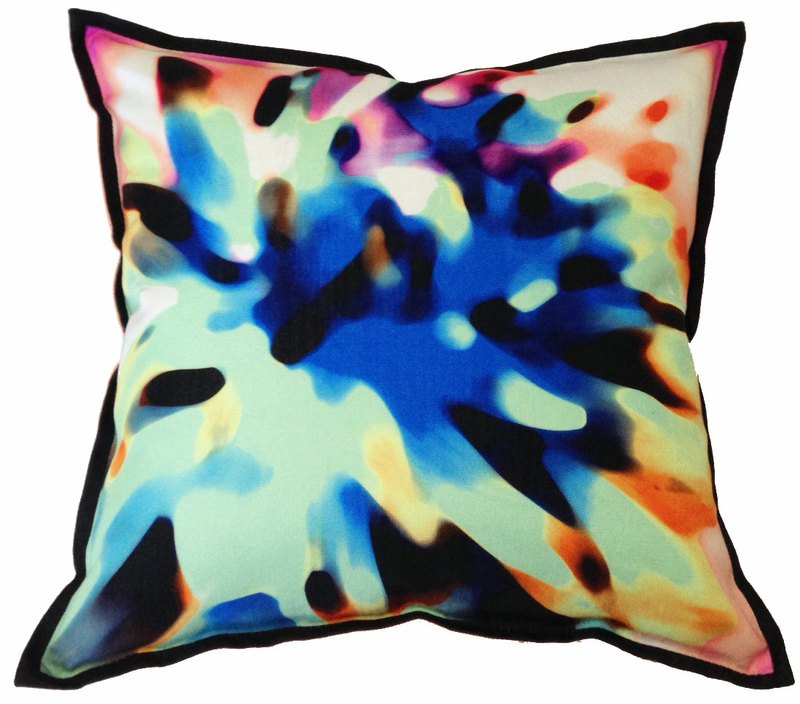 Cushion Cover Multicolour Abstract Flower