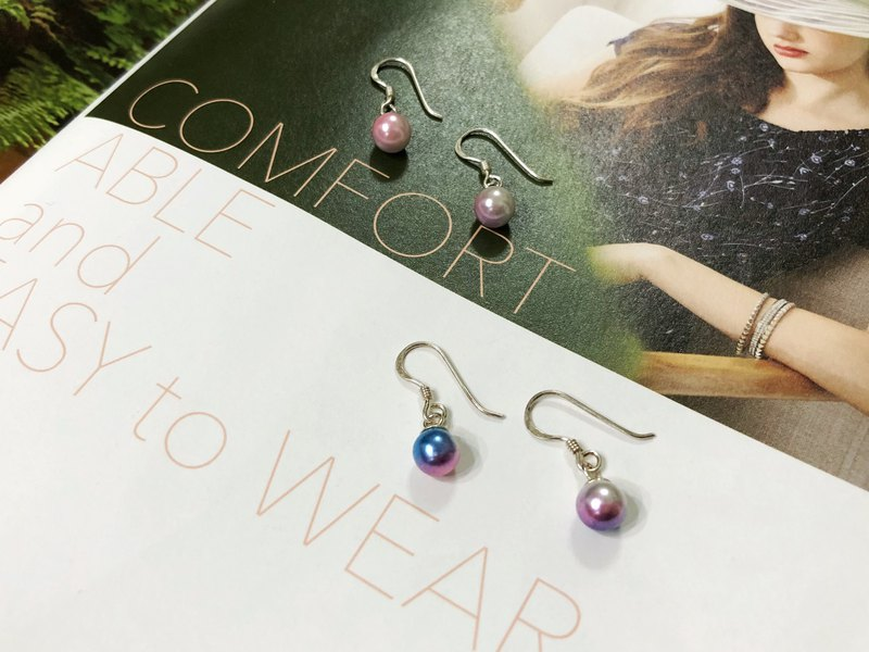 //Mermaid Tears // sterling silver Japanese magic pearl earrings