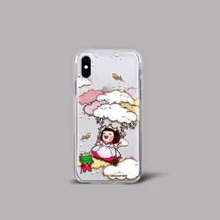 Chocolate Rain TPU Soft Border Transparent Phone Case (iPhoneX)