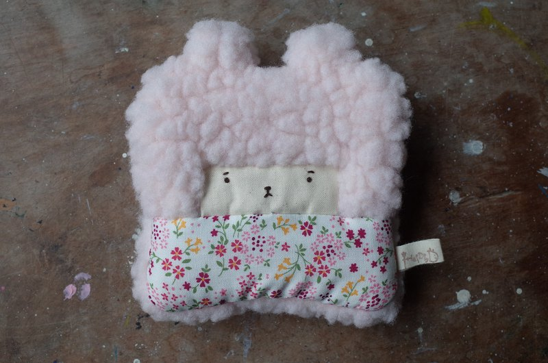 Doll Bunny Purse - Pink Hair - Spring Flowers - 2018033