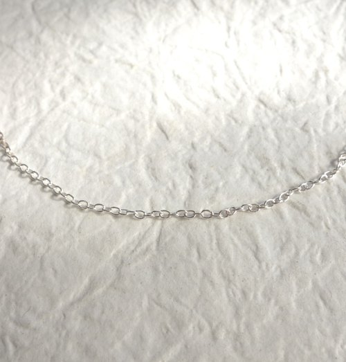Sterling silver chain - very thin, 16 inches, 1mm wide (for pendants)