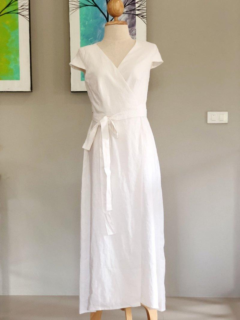 Isabella Linen Dress Wrap Dress Summer Dress Long