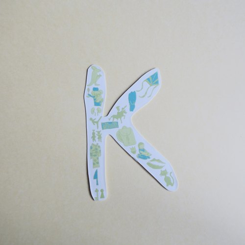English alphabet stickers KO