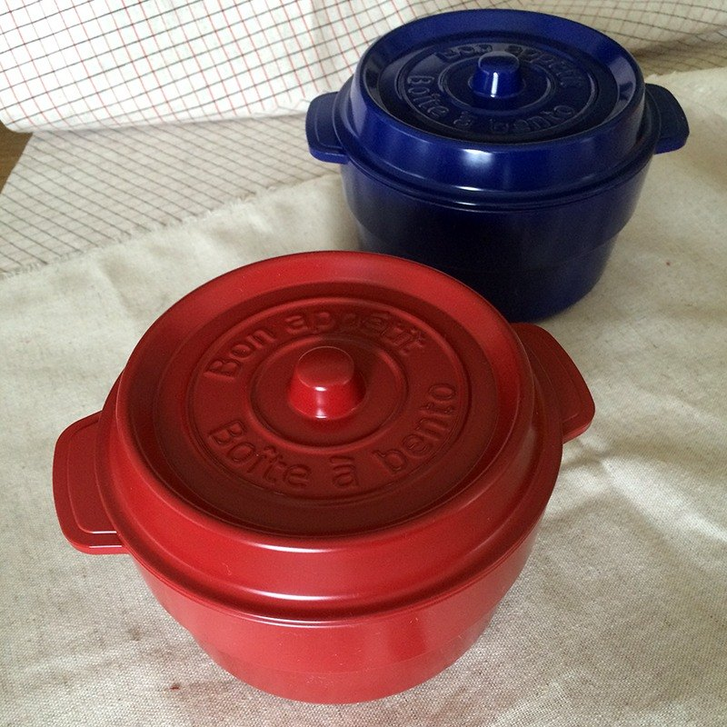 Small items selected from MyZakka lunch was} liberator: cast iron pot shape Nippon lightweight Picnic red _
