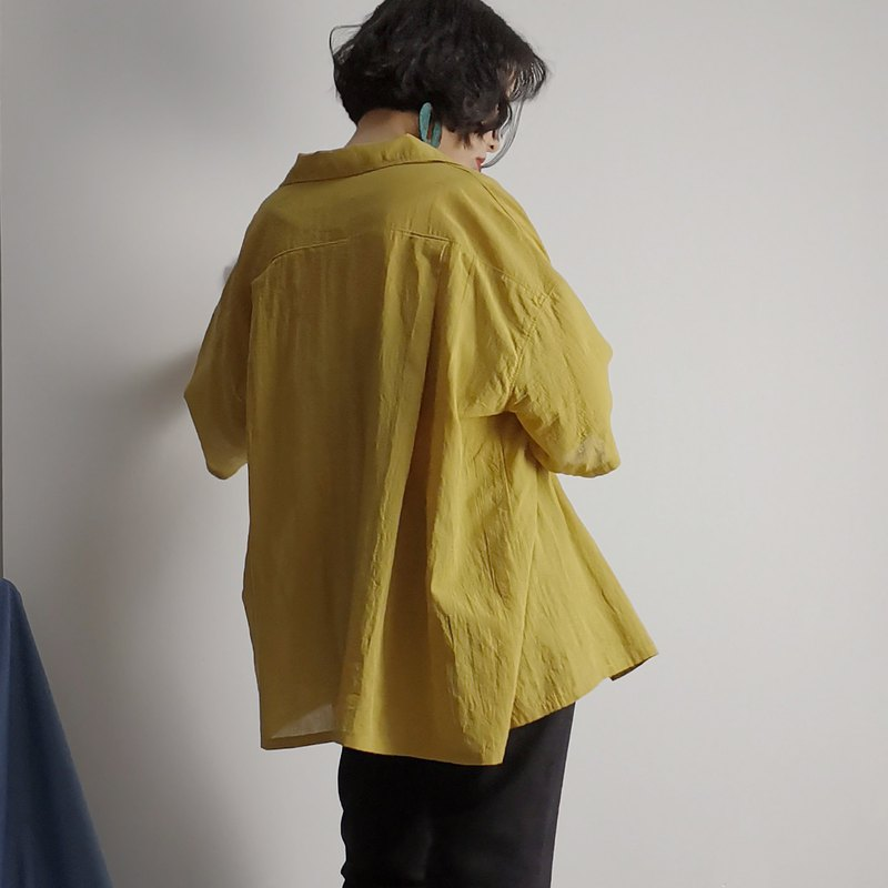 P.YELLOW | Summer yellow loose lazy short sleeve