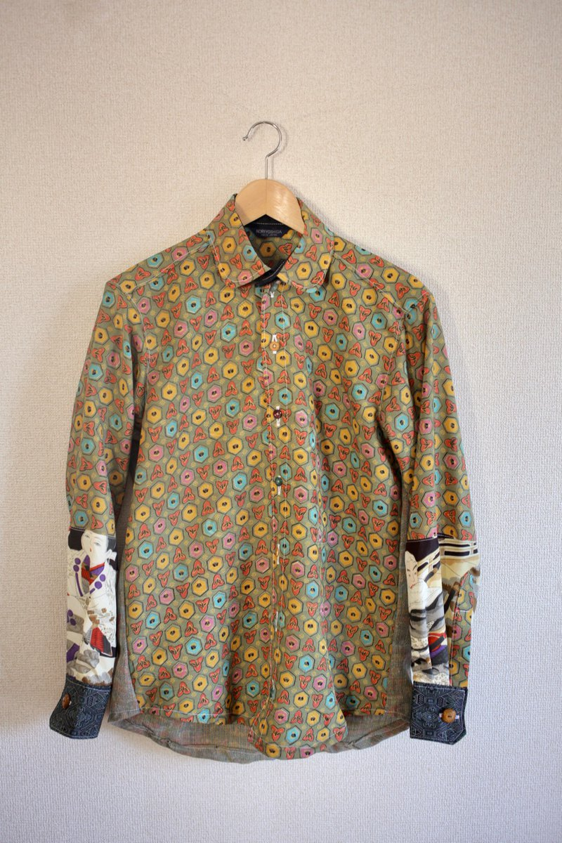 Men's Retro & Warrior pattern Kimono Shirt