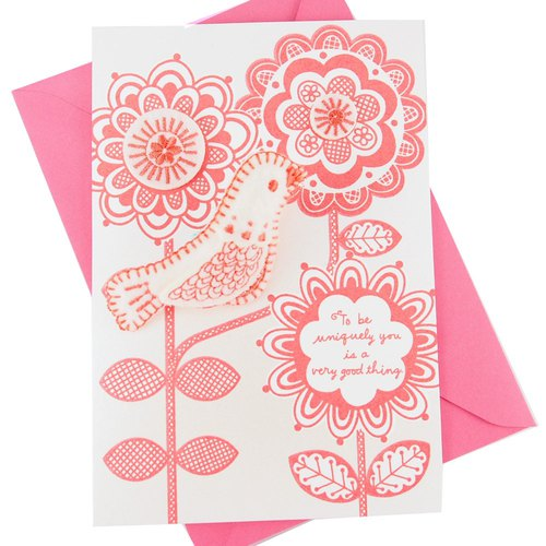 Birds to pick nectar (Hallmark-Signature classic handmade series birthday wishes)