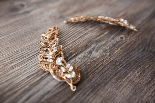 [Maxine] bridal hair accessories hand-made jewelry, wedding jewelry