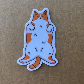 """Art of the fish,"" pussy everyday turn over small waterproof stickers -SS0074"
