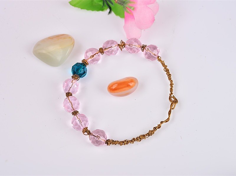 Brass powder [Love] Valentine's gift wishing love bracelet