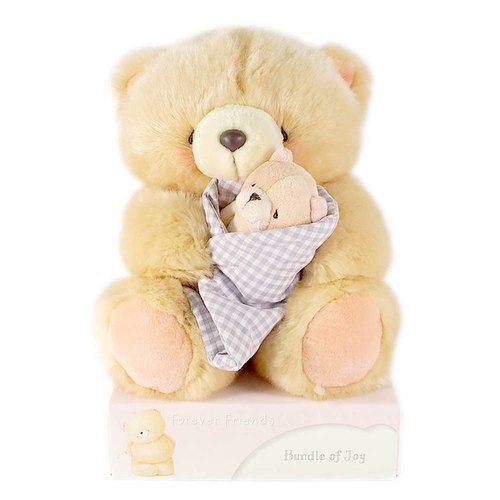 8/Mummy Baby Fluffy Bear [Hallmark-ForeverFriends Plush-Hug Series]
