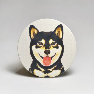 Water-absorbing ceramic coaster - sheep's head of the soup, black firewood (send stickers) (can be purchased custom text)