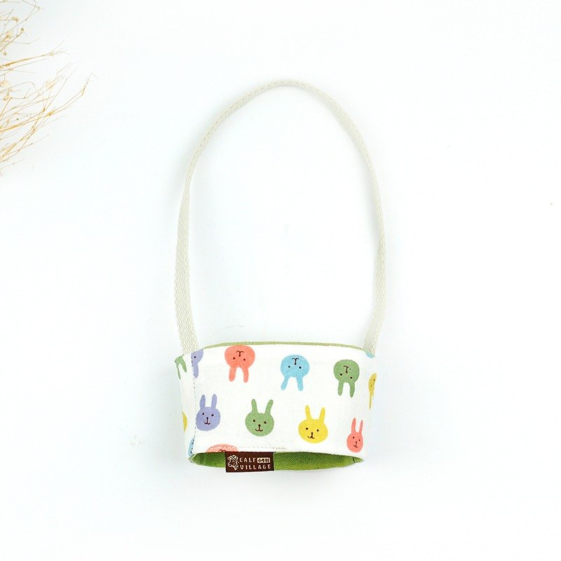 Hand-sided environmentally friendly drink bag absorbent coffee bag cute colorful rabbit [healing rabbit] [D-03]