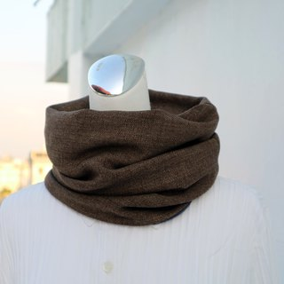 Coffee warm scarf short scarf neck cover double-sided two-color men and women are applicable*SK*