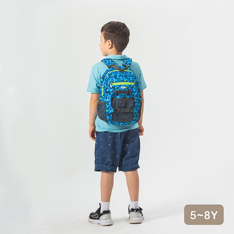 HUGGER Children's Mountaineering Backpack Camouflage Blue