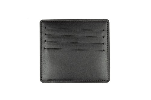 Handmade leather slim business card case / card holder (Black)