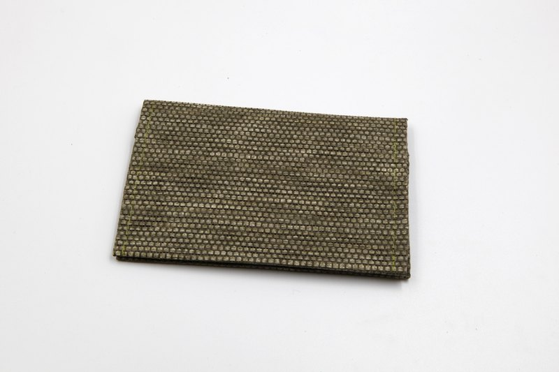 [Paper cloth home] paper line woven business card holder dark green