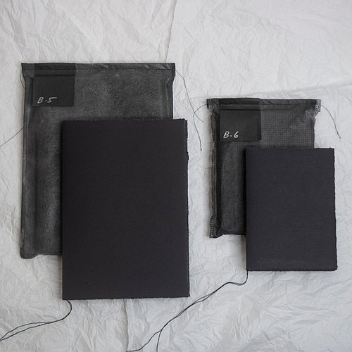 Pure black hole ◐A6 all black notebook