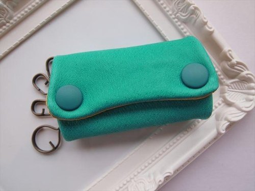 Luxury pig leather soft key case [hand-dyed leather] 1543003