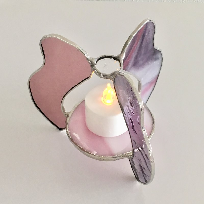 Candle night LED candle holder Wave Pink Purple Bay View