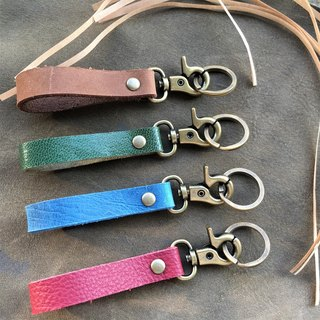 Hin window leather art - handmade leather - key ring simple section hand-made vegetable tanned chrome tanned customized custom Wen-ching