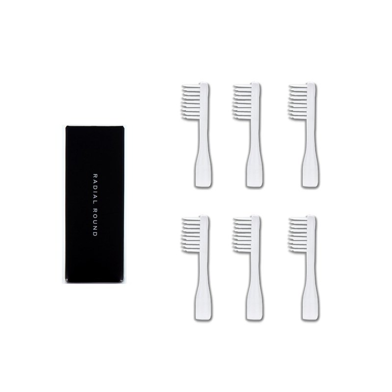 RADIAL ROUND brush head supplement package (6 in)