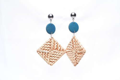 3D handmade bamboo earrings