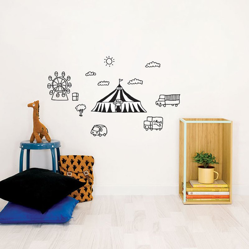 Hand-painted wall stickers happy circus