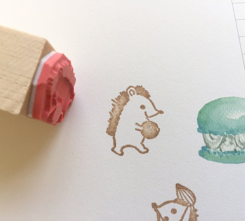 Zoe's Forest Fruit Hedgehog Seal Rubber Stamp