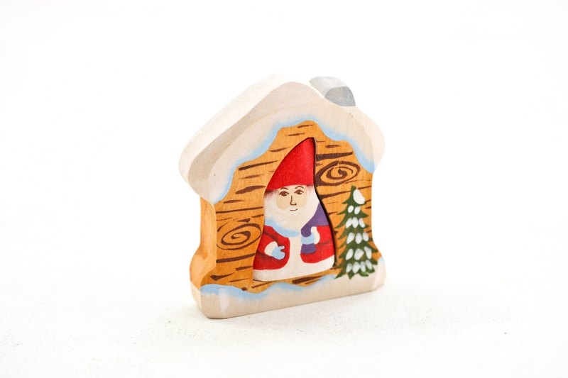 Goody Bag - Russian Building Blocks Elm Fairy Tale Puzzle Series: Christmas Santa Claus in the house