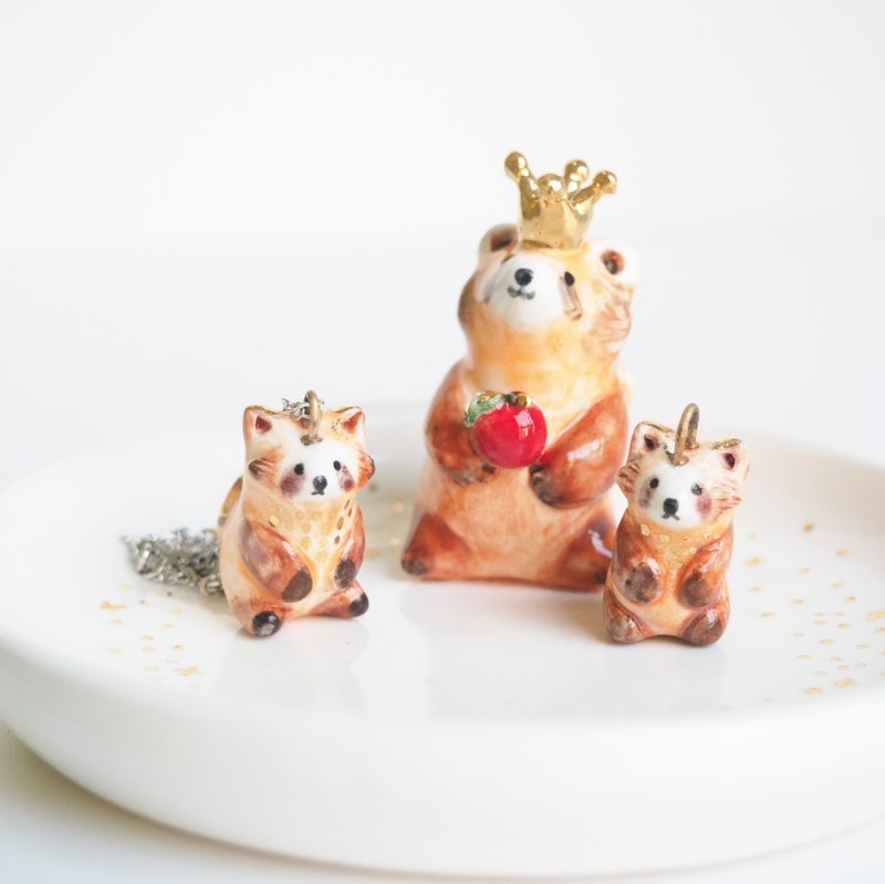 Red Panda Porcelain Necklace