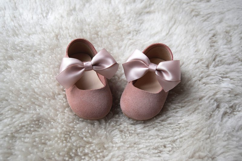 Dusty Pink Leather Toddler Girl Shoes, First Birthday Outfit, Baby Girl Shoes