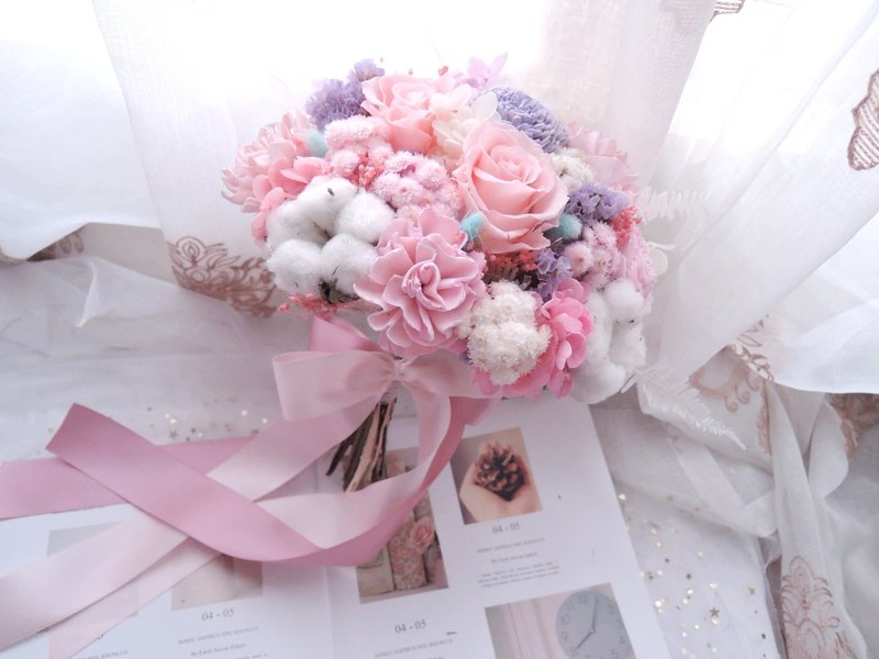 [Spring fragrance soft feeling] not withered flowers / bridal bouquet / wedding bouquet / wedding dress / outside shoot props