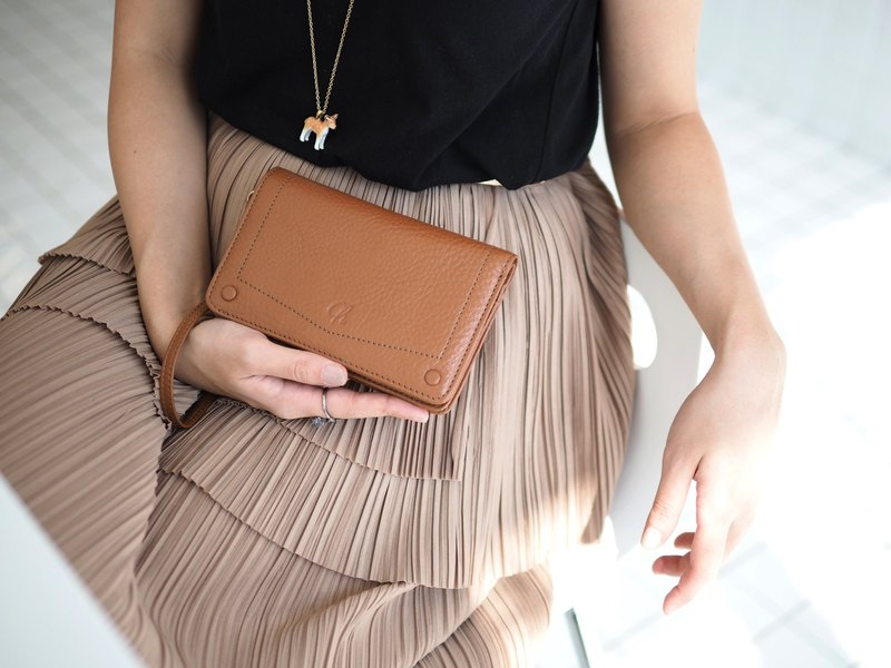 Kylie wallet : wallet, Leather wallet, Brown wallet, Genuine wallet