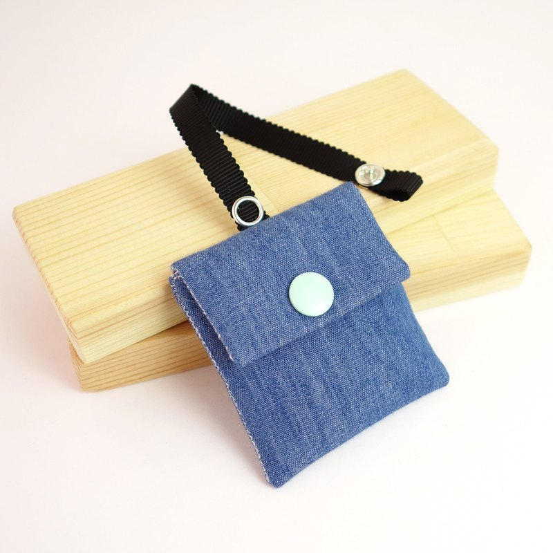 Denim amulet bag