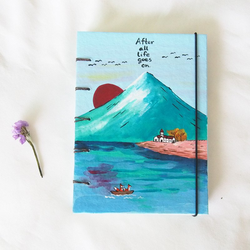 Adventure foxes, Notebook Painting  Handmadenotebook Diary 筆記本