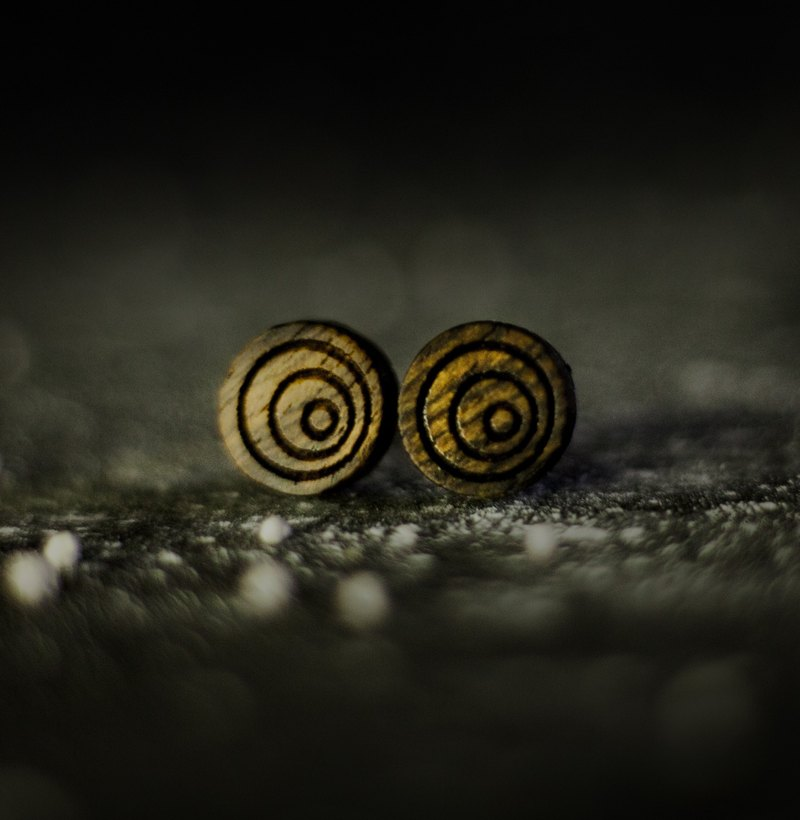 【Hylé Design Macau】 ORB-it Wood earrings (galaxy geometry)