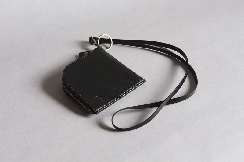 【艸 a field】 Italy imported vegetable tanned leather square neck wallet purse wallet