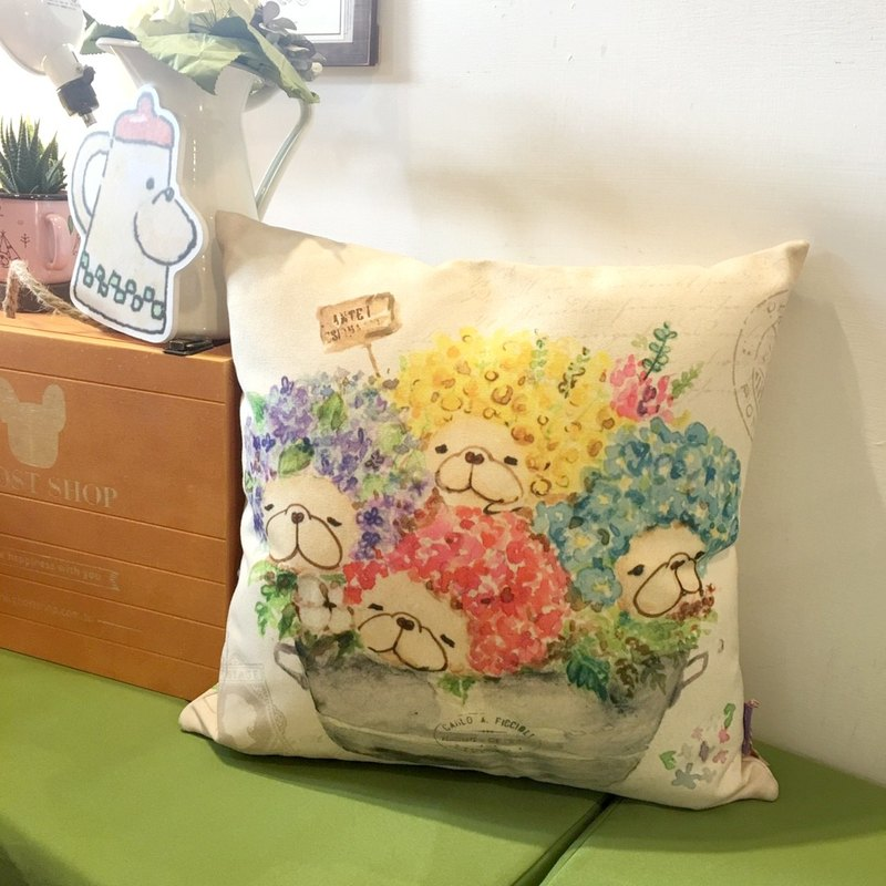 (Sold out) Method Hand Pillows - Hydrangea Flower