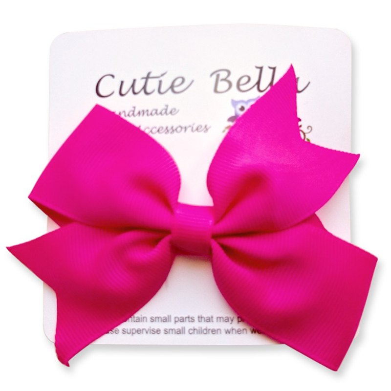 Cutie Bella Dream Bow Handmade Hair Accessories All Inclusive Bow Stretch Hair Clip - Fuchsia