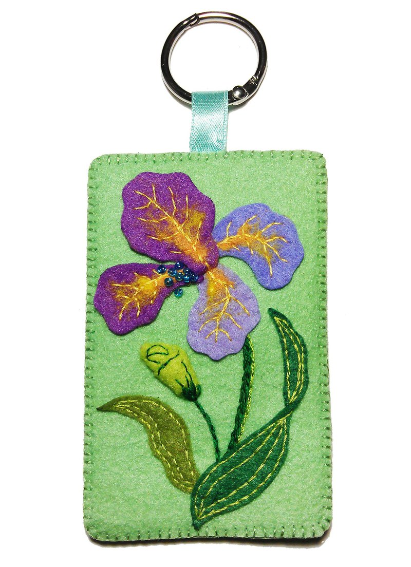 Flower Series Card Holder - Iris Flower
