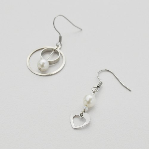 Tanabata Valentine's Day Series 06-Love Simple Short Earrings/Ear clips