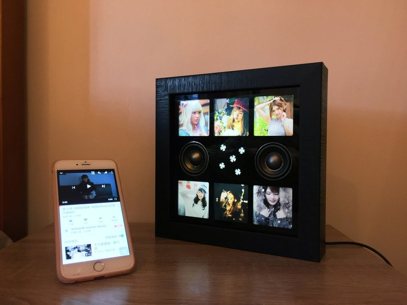 Music Photo Frame-Bluetooth Speaker-personalized gifts-birthday-christmas-lover