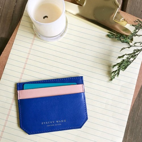 Thin card clip - blue / pink (to be sold out Replenishment)