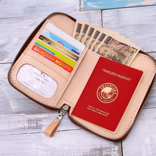 [Cut line] Italian vegetable tanned leather handmade leather wallet package travel wallet 003 primary colors