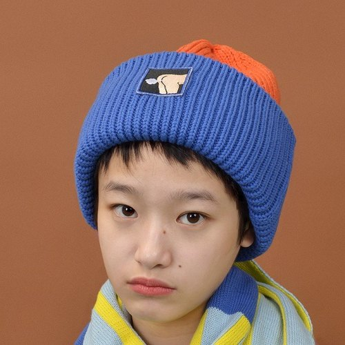 YIZISTORE female wild spell color wool cap knitted hat autumn and winter ear young couple leisure cap