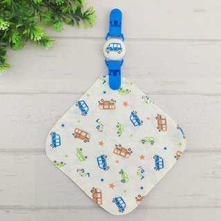 Mini car. Double-sided cotton handkerchief + handkerchief clip (can increase the price of 40 embroidery name)