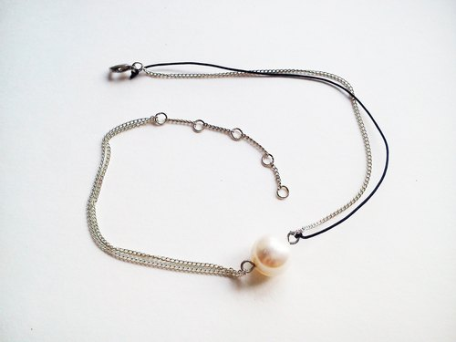 Summer Essential 26cm Sailor Blue Freshwater Pearl Anklet - Own Design Sea Breeze Series