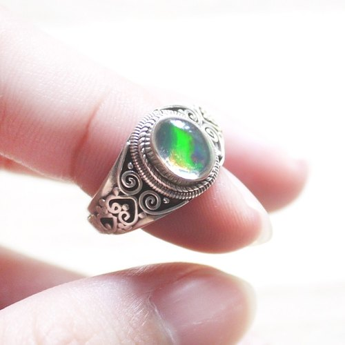 (Limited) rainbow light | OPAL Opal Opal 925 Sterling Silver Ring Ring labradorite natural stone