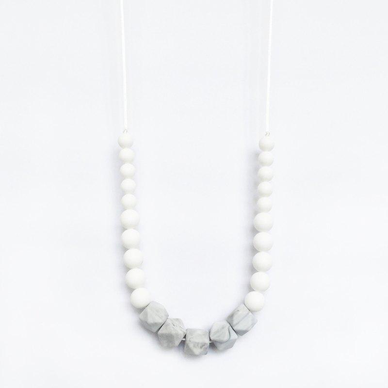 大理石矽膠NECKLACE  - 白色